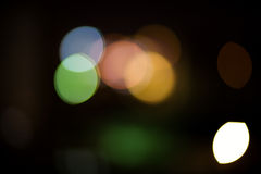 City Lights. Blurred and defocused lights in night city Royalty Free Stock Photos