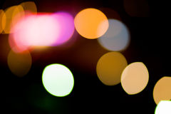 City Lights. Blurred and defocused lights in night city Royalty Free Stock Image