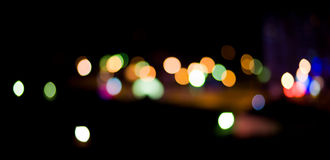 City Lights. Blurred and defocused lights in night city Stock Images