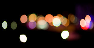 City Lights. Blurred and defocused lights in night city Royalty Free Stock Photography