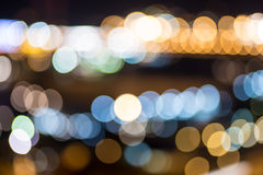 City lights background. Colorful blurred city lights background Stock Image