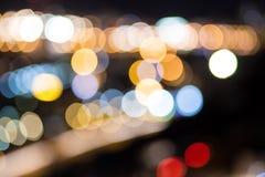 City lights background. Stock Photos