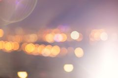 City lights with beautiful bokeh Royalty Free Stock Image