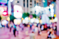 City lights big abstract circular bokeh Royalty Free Stock Images