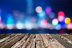 City lights big abstract circular bokeh Stock Images