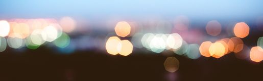 City lights blur bokeh stock photography