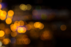 City lights blur bokeh night. Out of focus Royalty Free Stock Photos