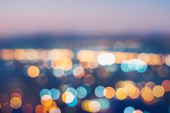 City Lights Blurred Abstract Background - Night time city with colorful light Abstract bokeh in city colorful beautiful stock photography