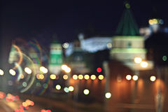 City ​​lights blurred Stock Images