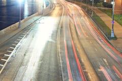 City lights blurred Stock Image
