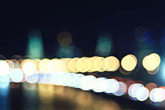 City ​​lights blurred Stock Photo