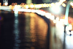 City ​​lights blurred Stock Photography