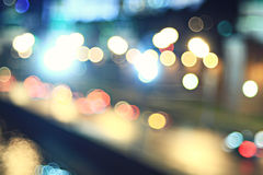 City ​​lights blurred Royalty Free Stock Photos