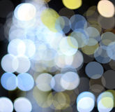 City lights blurred bokeh background Royalty Free Stock Photography