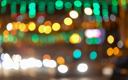 City lights blurred bokeh background Stock Image