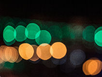 City lights blurred bokeh background Stock Photography
