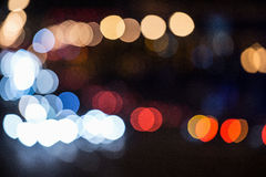 City lights blurred bokeh background Royalty Free Stock Image