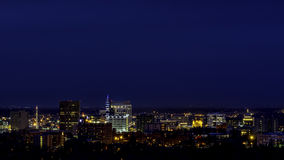 City lights of Boise Idaho and Capital building Royalty Free Stock Photo