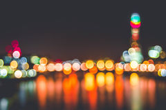 City lights in bokeh Stock Image