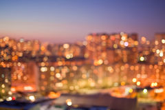 City lights bokeh. City lights with beautiful bokeh Royalty Free Stock Photos