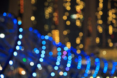 City lights bokeh  blurred background Stock Photography