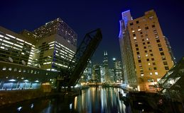 City Lights Chicago Royalty Free Stock Images