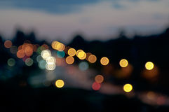 City Lights Circular Bokeh Abstract Background Royalty Free Stock Photo