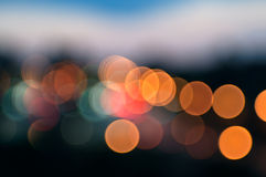 City Lights Circular Bokeh Abstract Background Royalty Free Stock Photography