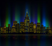 City lights, cityscape colourful Stock Images