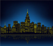 City lights, cityscape Royalty Free Stock Image