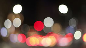 City lights defocused bokeh stock video