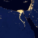 City lights Of Egypt ,Elements of this image are furnished by NASA Stock Image