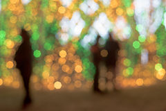 City lights in the evening blurring background royalty free stock images
