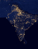 City lights Of India ,Elements of this image are furnished by NASA. City lights Of India from space ,Elements of this image are furnished by NASA Stock Photography