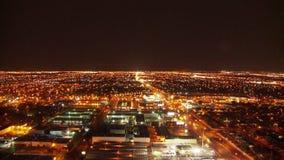 City lights landscape timelapse stock video footage