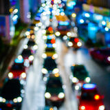 The city lights. Motion blur Stock Images