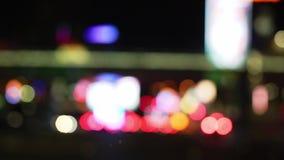 city lights night απόθεμα βίντεο