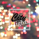 City lights at night Stock Images