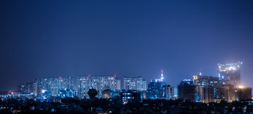 City Lights. Night City Scape of Gurgaon City in state of Haryana, India Stock Photography