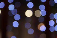 City lights. Night of the city, there are a lot of light, beautiful bokeh royalty free stock photo