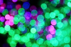 City lights. Night of the city, there are a lot of light, beautiful bokeh stock photo