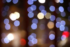City lights. Night of the city, there are a lot of light, beautiful bokeh stock photography