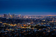 City Lights during Night Time Royalty Free Stock Photos
