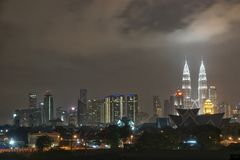 City Lights. Night time at Kuala Lumpur stock photo