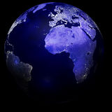 City lights on planet earth Royalty Free Stock Photography