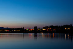 City Lights Reflection Royalty Free Stock Photography