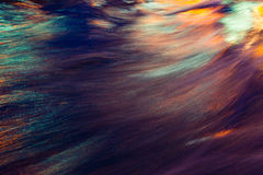 City lights reflection. Colorful glare on the water Royalty Free Stock Photo