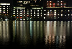 City lights and reflections royalty free stock photos