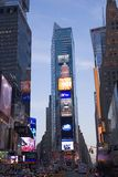 City  lights at twilight at Times Square Royalty Free Stock Photo