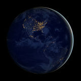 City lights Of USA ,Elements of this image are furnished by NASA Royalty Free Stock Images